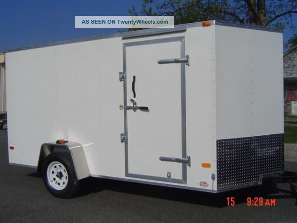6x12 Enclosed Trailer Cargo V - Nose In Florida Motorcycle 7 Lawn 10 Landcape Trailers photo