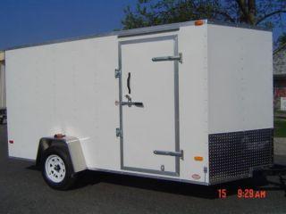6x12 Enclosed Trailer Cargo V - Nose In Florida Motorcycle 7 Lawn 10 Landcape photo