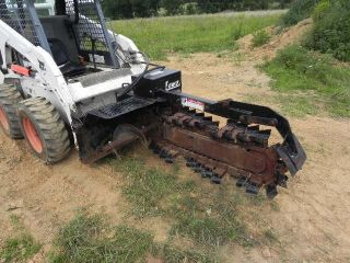 Lowe 21c Skid Steer Trencher Attachment For Bobcat Loader Carbide Teeth 36