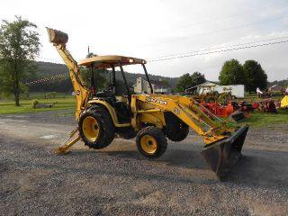 2006 John Deere 110 Tractor Loader Backhoe Tlb 4x4 540 Pto Yanmar Diesel Rops photo