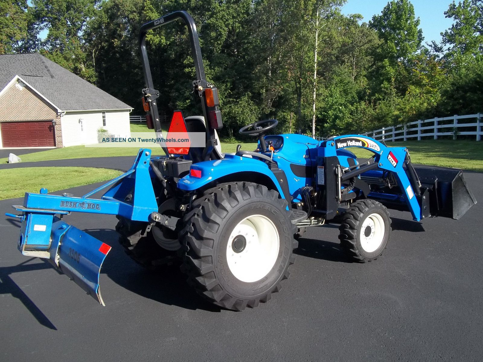 2008 holland tc34da 4x4 diesel tractor only 97 hours. Black Bedroom Furniture Sets. Home Design Ideas
