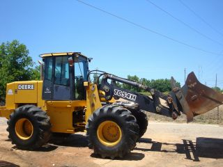 2002 John Deere Tc54h Rubber Tired Wheel Loader photo