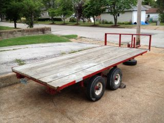 Flatbed Utility Trailer 5 1/2 X 12 photo