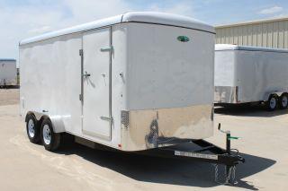 7x14 Rear Ramp Enclosed Cargo Trailer Dallas Fort Worth Waco Houston San Antonio photo