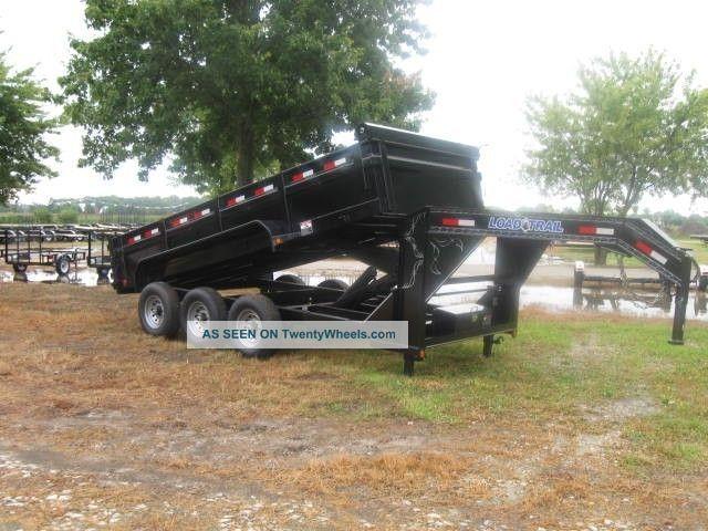 16 Triple Axle Gooseneck Dump Skidsteer Equipment Trailer