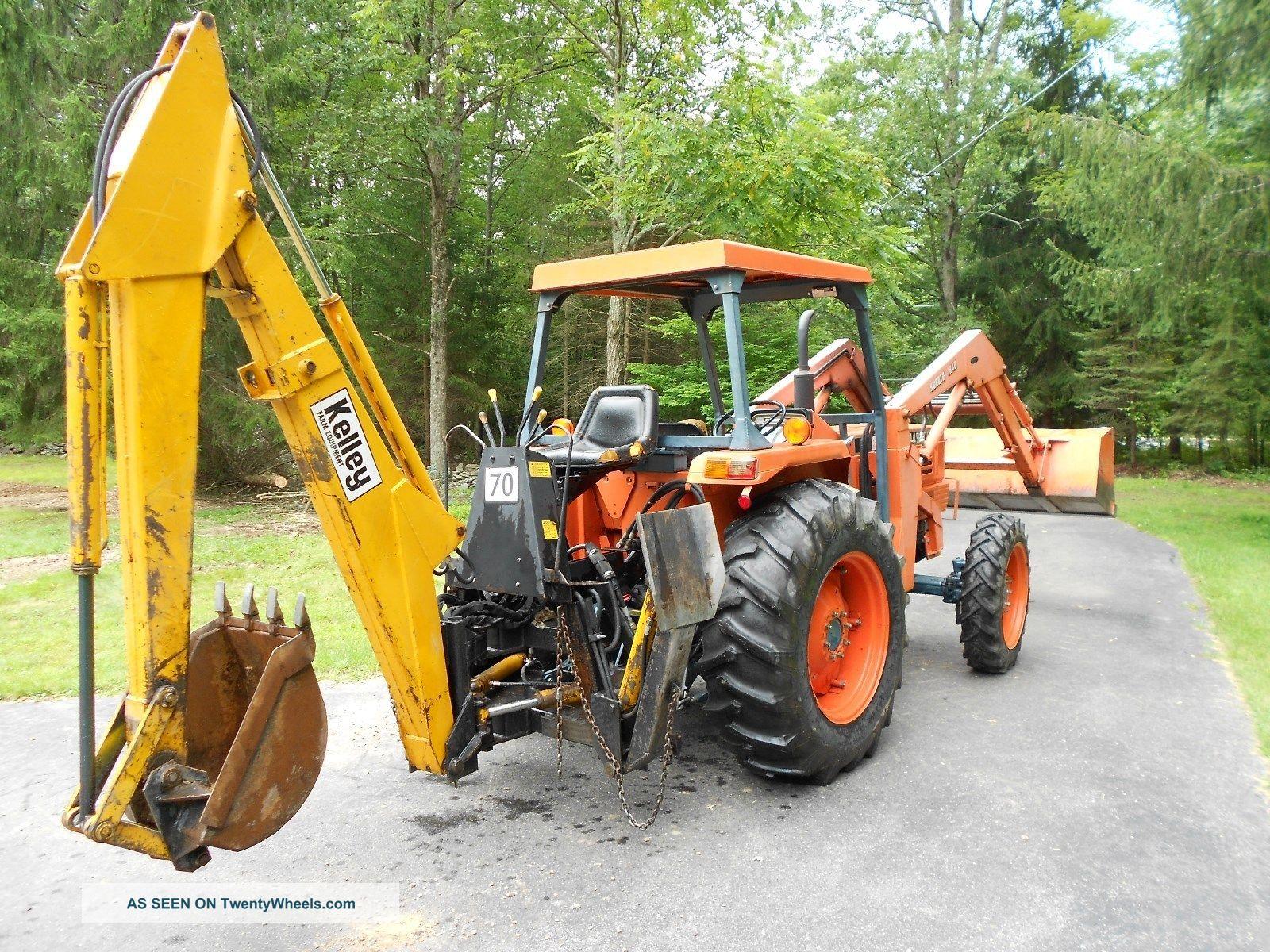 Kubota M Dt Tractor Front Loader Backhoe Lgw