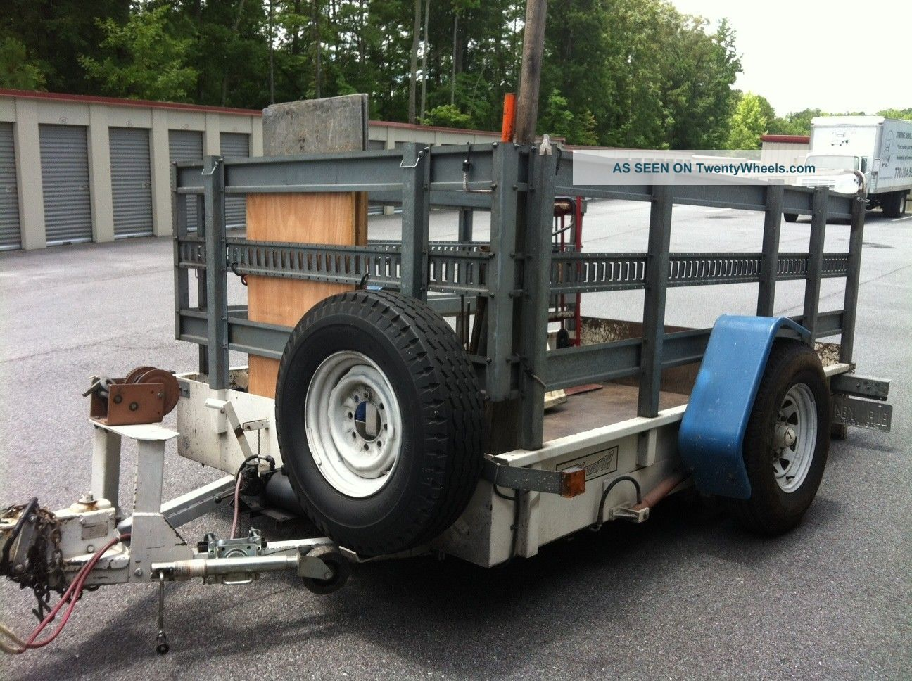 Hydraulic Drop Deck Trailers : Equipment trailer safe vending tilt drop deck hydraulic