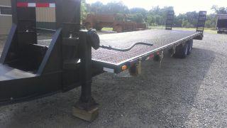 35 ' 25,  000 Lb Gvw Pintle Hitch Beaver Tail Construction Utility Trailer W/ Ramps photo