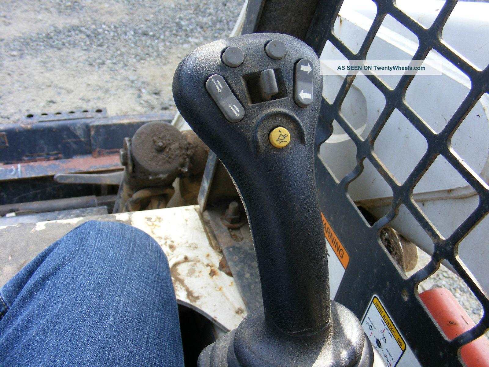 Skid Steer Controls : Bobcat t skidsteer forks joystick controls and