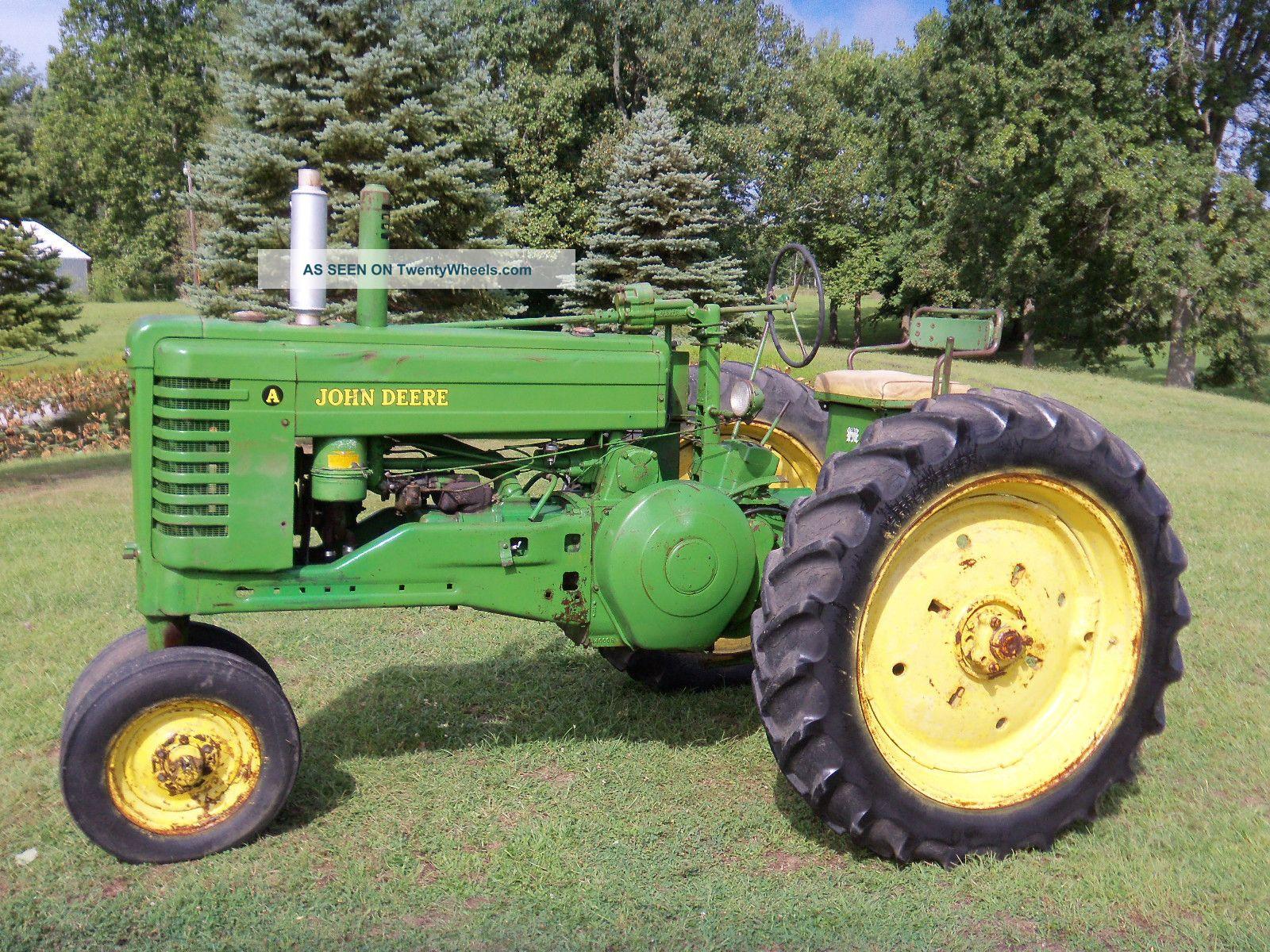 Old John Deere Power Wheels : John deere a tractor power steering