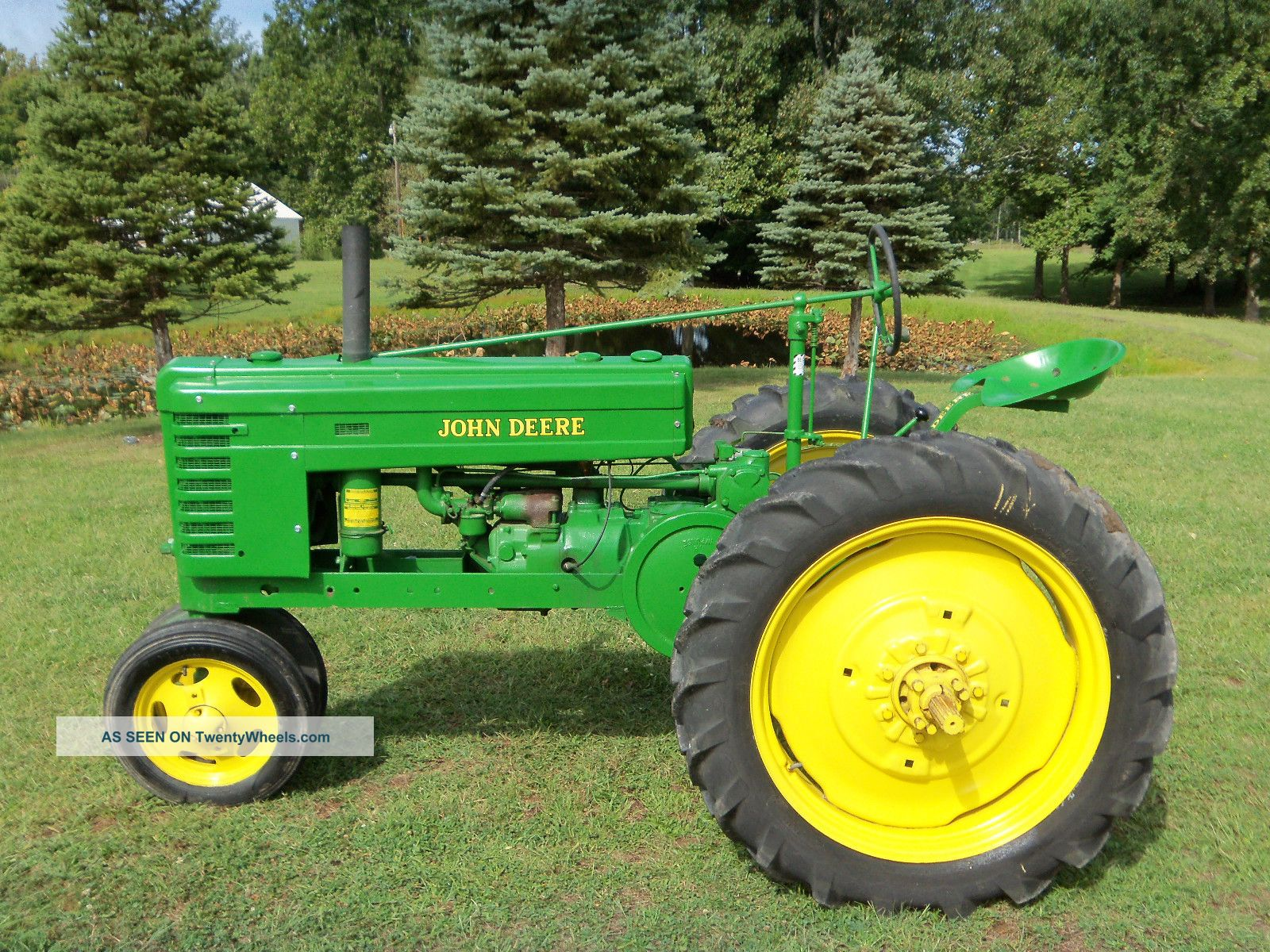 Restored Antique Tractors : John deere h tractor restored