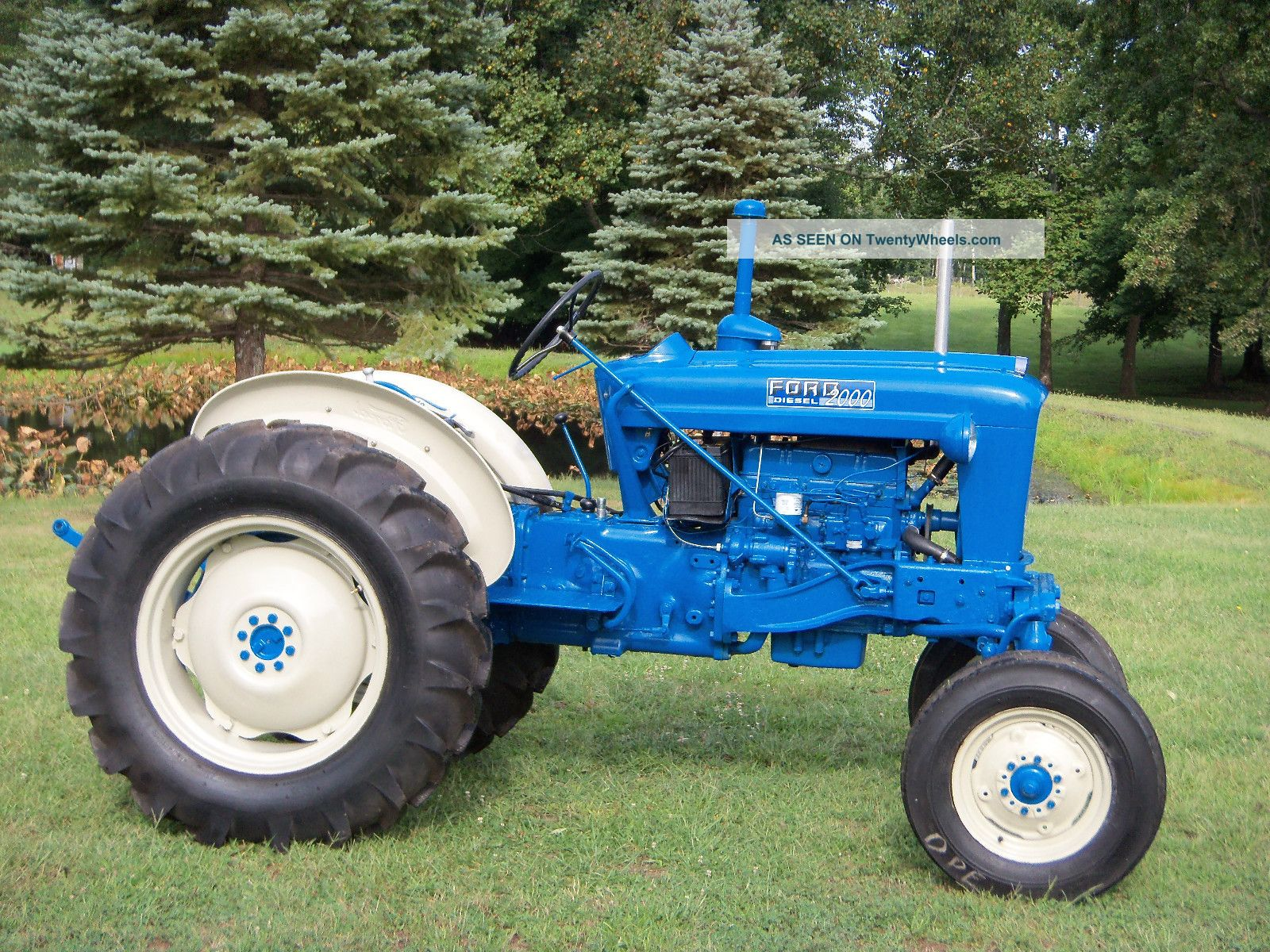 2000 Ford Tractor Information : Ford offset tractor diesel restored