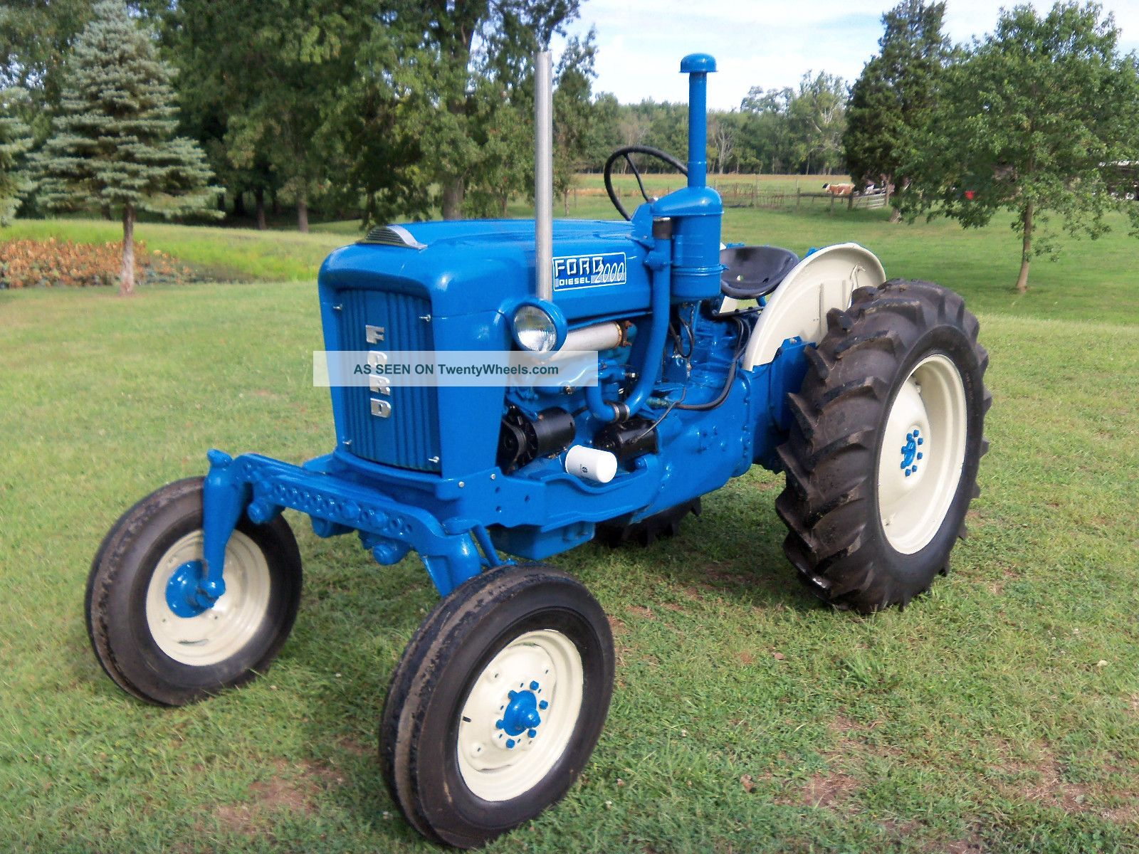 Old Ford Diesel Tractors : Ford offset tractor diesel restored