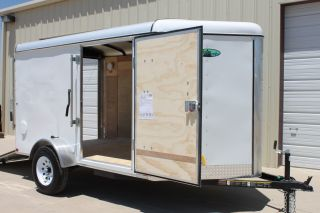 V - Nose Rear Ramp 6 X 10 Enclosed Cargo Trailer Dallas Fort Worth Houston photo
