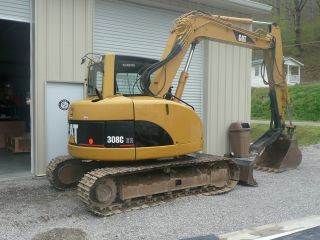 Caterpillar Cat 308c Cr Excavator W/ Thumb L@@k photo