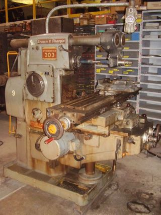Brown And Sharpe Dynamaster 203 Mill Milling Machine photo