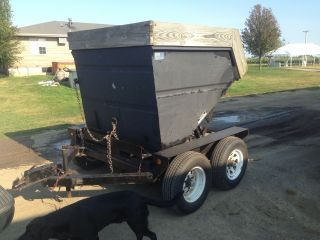 Galfab Ld 3.  0 3 Yard Rolloff Dumpster & Trailer photo