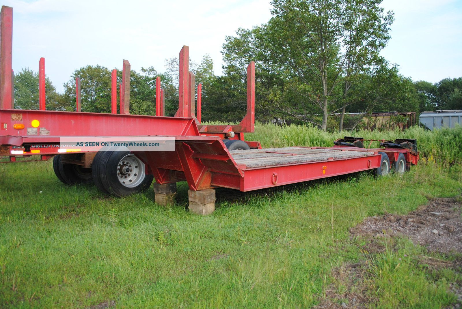 Heavy Equipment Trailer : Rogers ton heavy equipment lowboy trailer