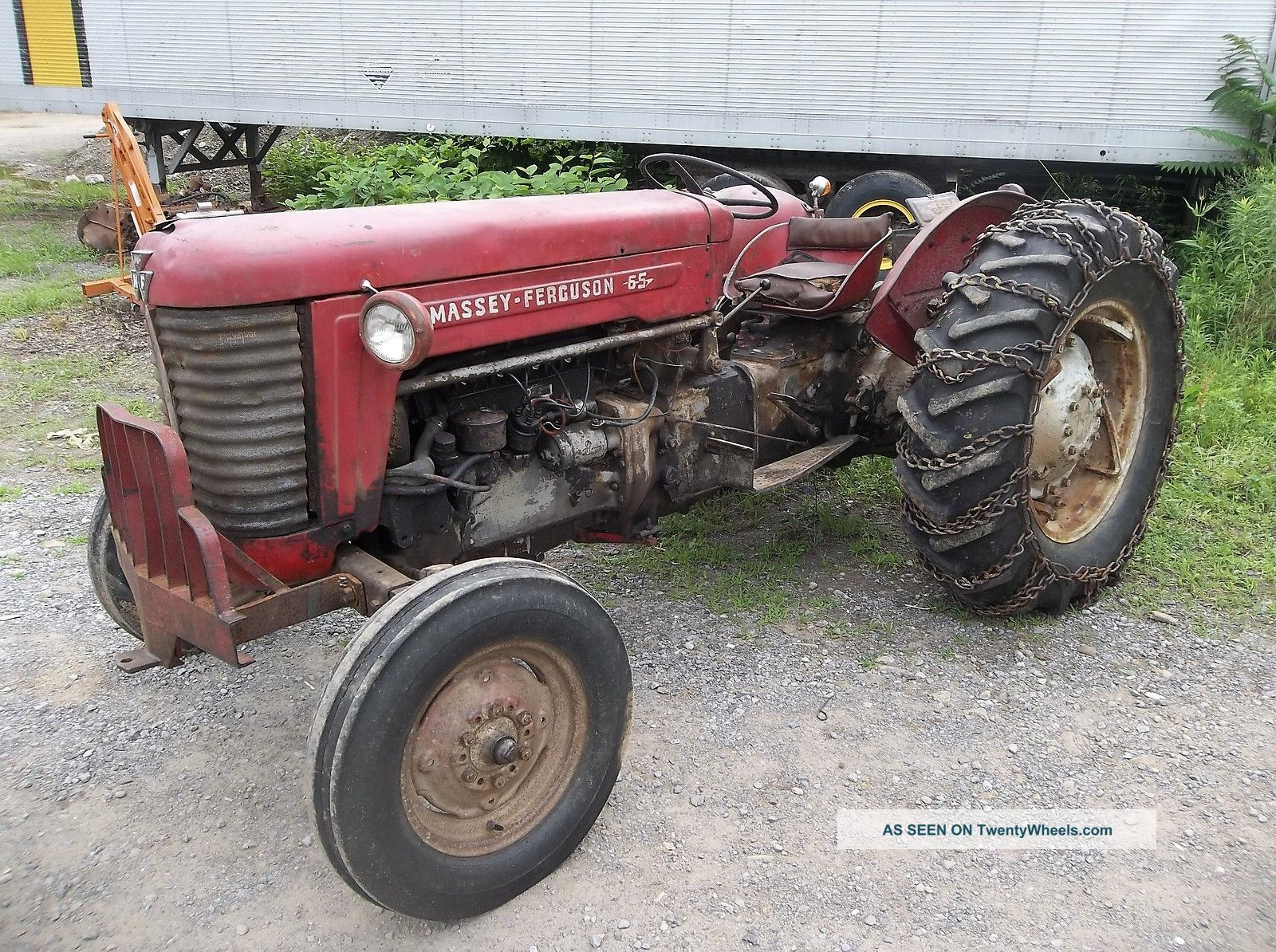 1958 Massey Ferguson Model 65 Mf65 Gasoline Farm Tractor