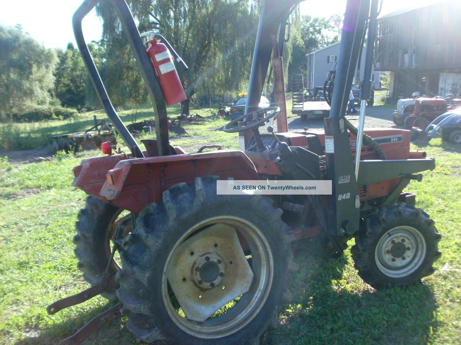 International 244 Tractor Diagram : International wd tractor with loader