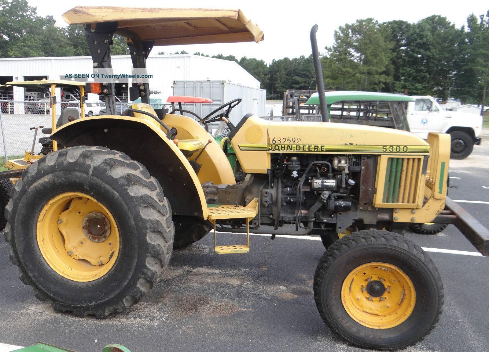 John Deere Bush Hog : John deere tractor with bush hog