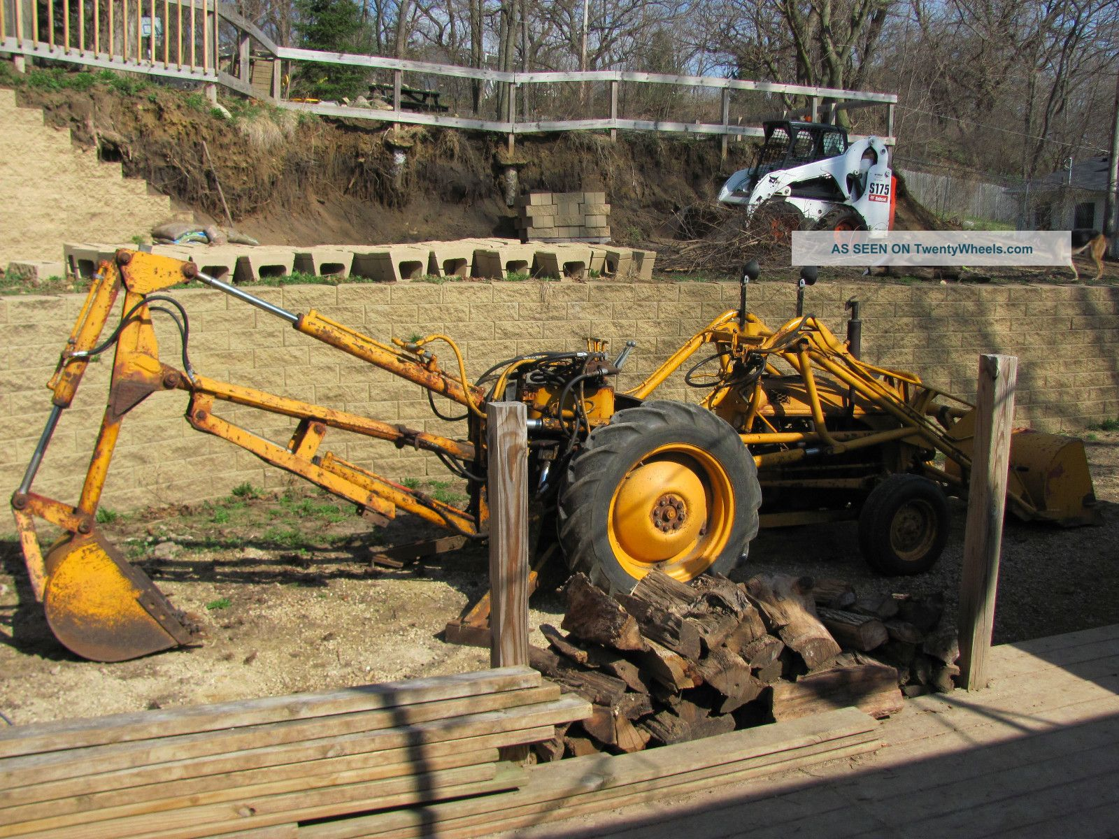 1951 Ford 8n Tractor With Loader And Backhoe