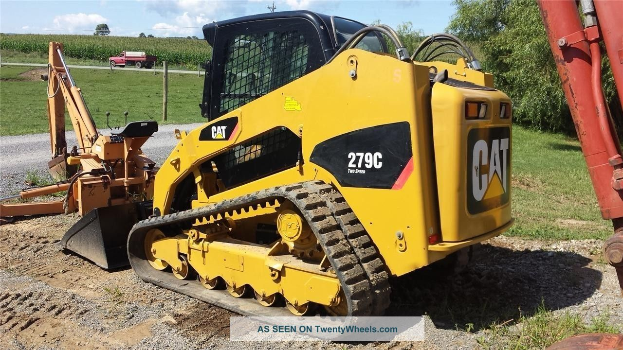 2008 Cat Caterpillar 279c Track Skid Steer Loader Cab, Heat