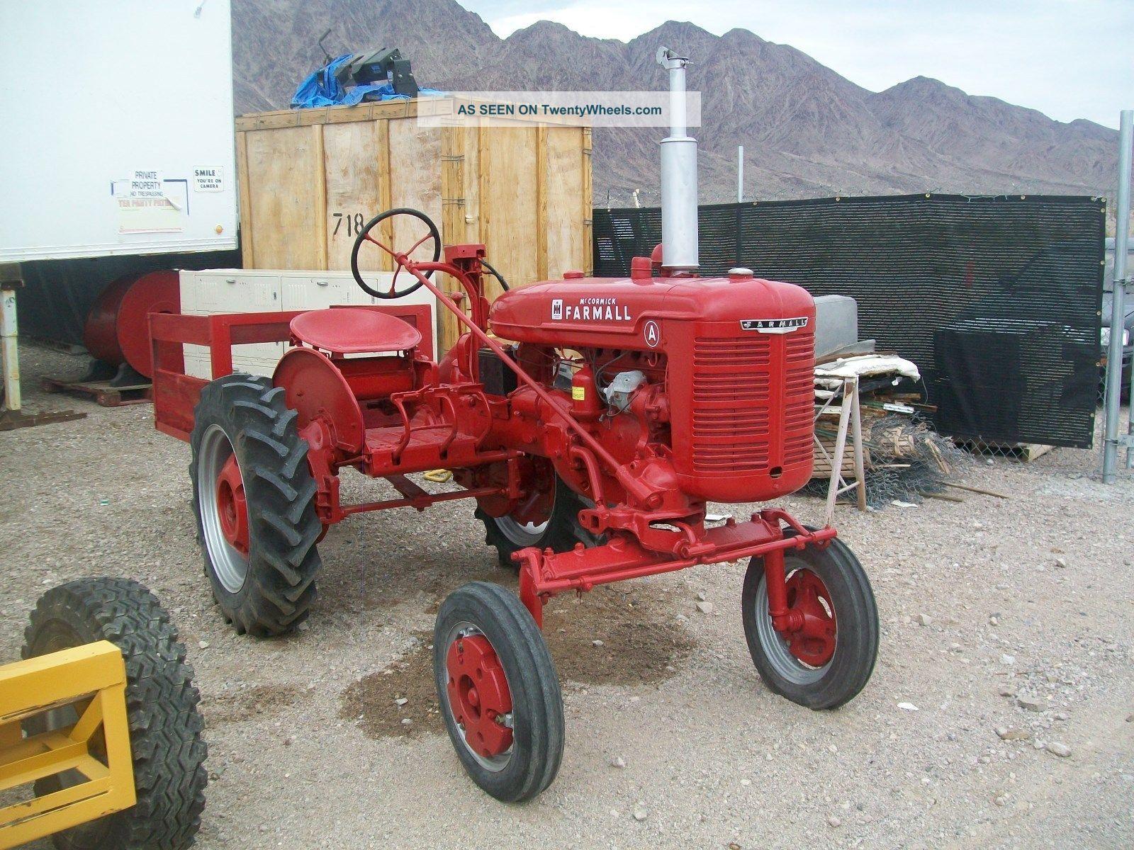 Farmall Tractor Models : Farmall tractor antique model a