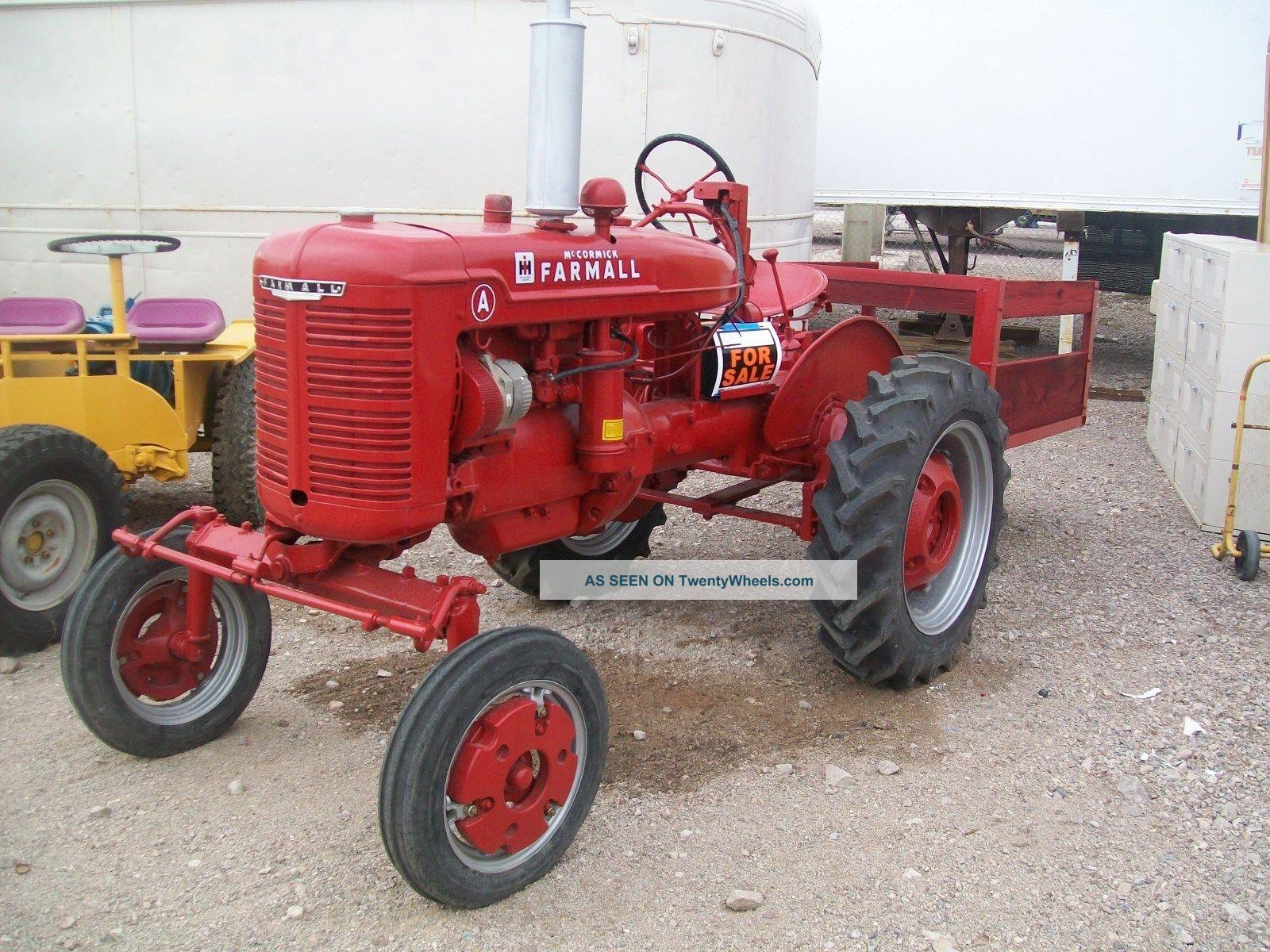 Antique Tractors Equipment : Farmall tractor antique model a