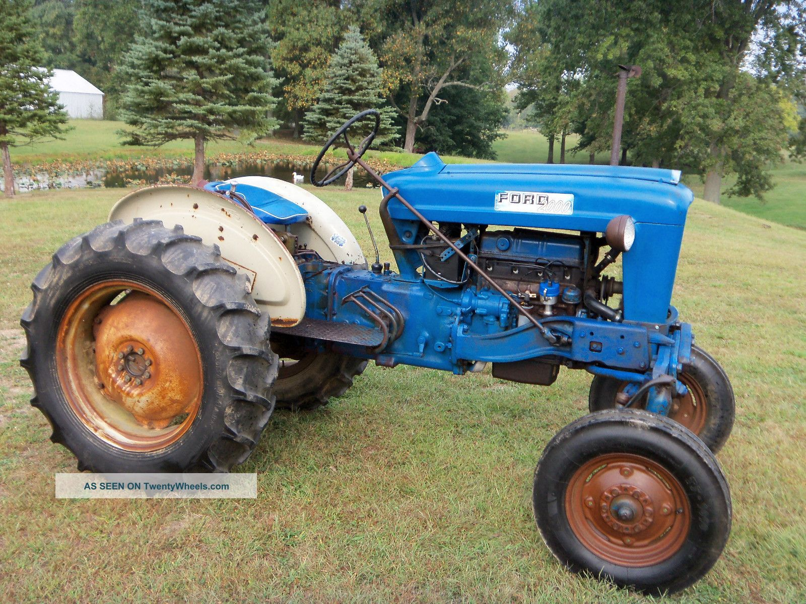 Ford 2000 Tractor Wheels : Ford offset tractor gas
