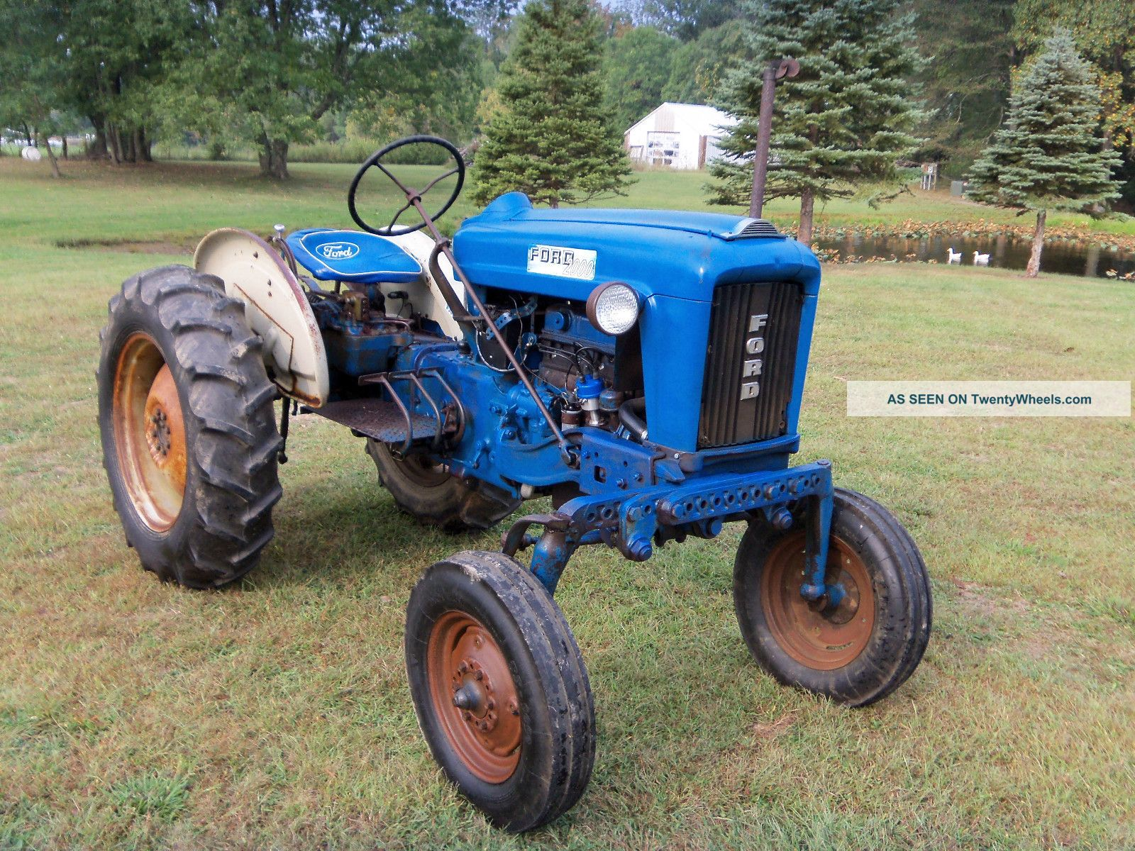 2000 Ford Tractor Information : Ford offset tractor gas