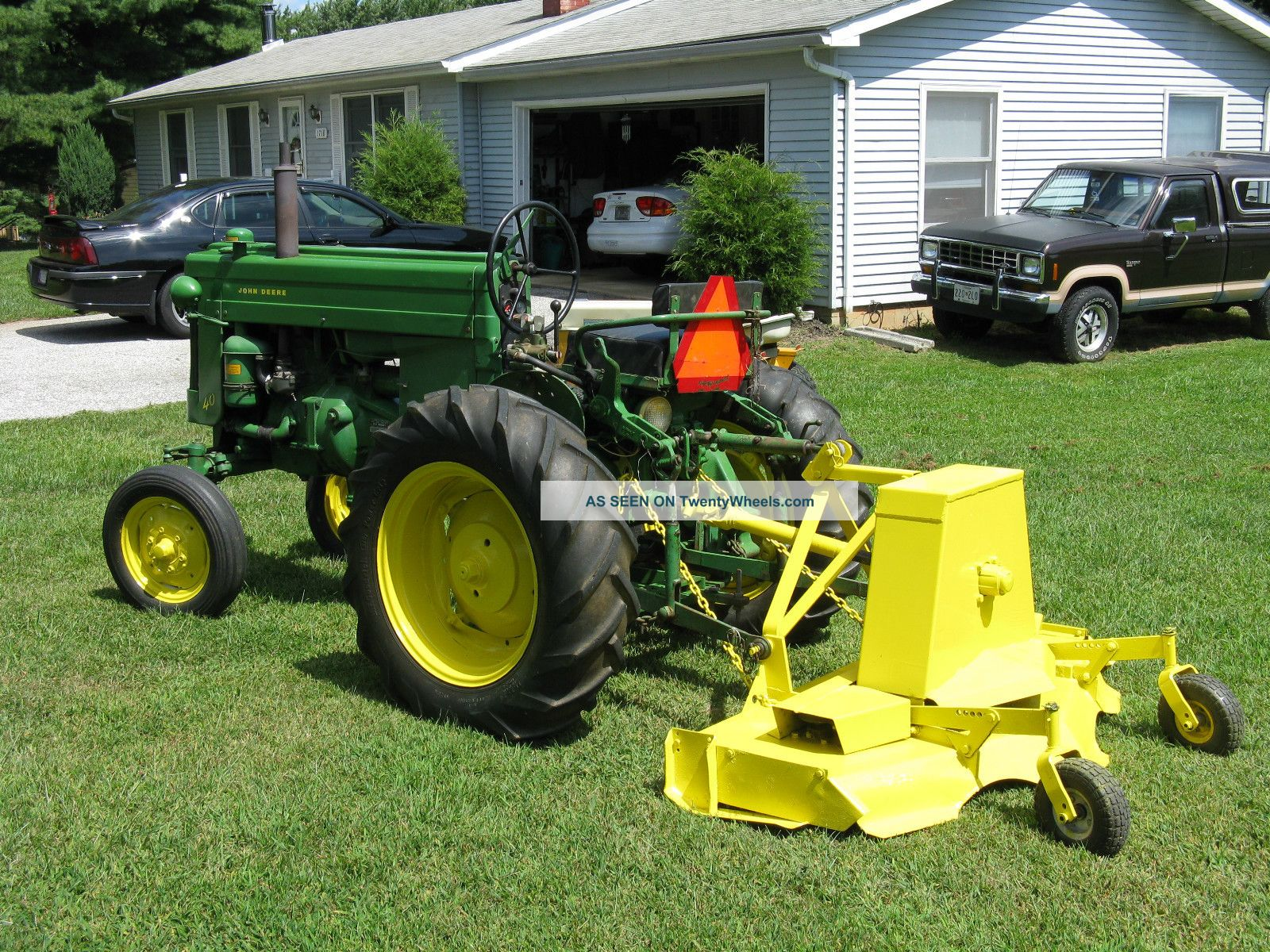 1955 John Deere Model 40 W/ Woods Rm59 3 Point Finish Mower