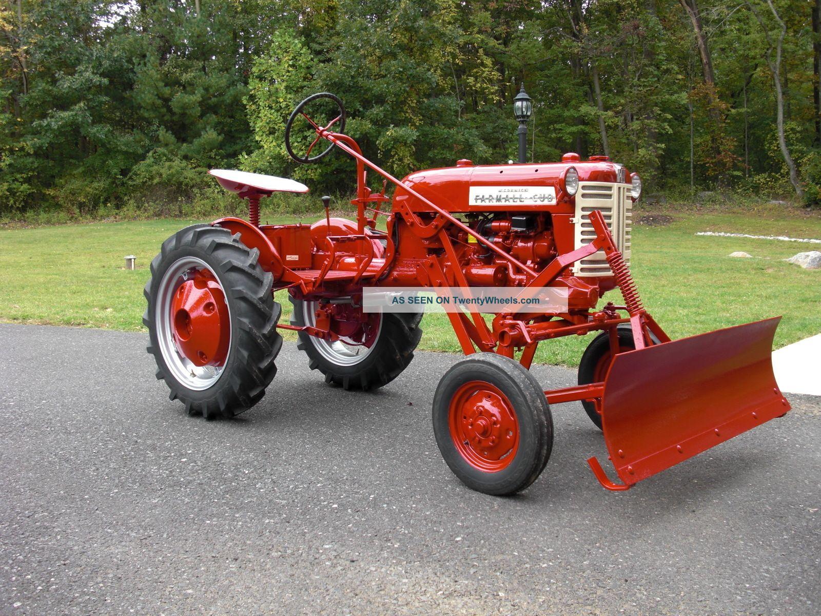 Restored Ih Tractors : Farmall cub tractor restored