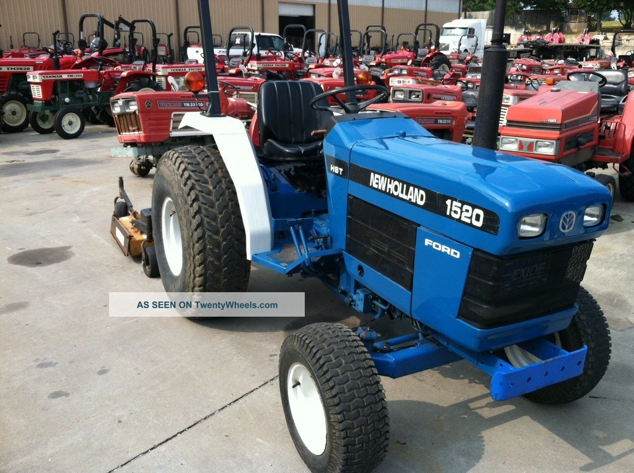 Ford Tractor Turf Tires : Ford holland hydrostactic with finish mower and