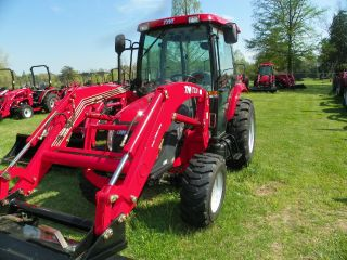 Tym 50 Hp 4x4 Cabin Tractor,  Loader & Bale Spear photo