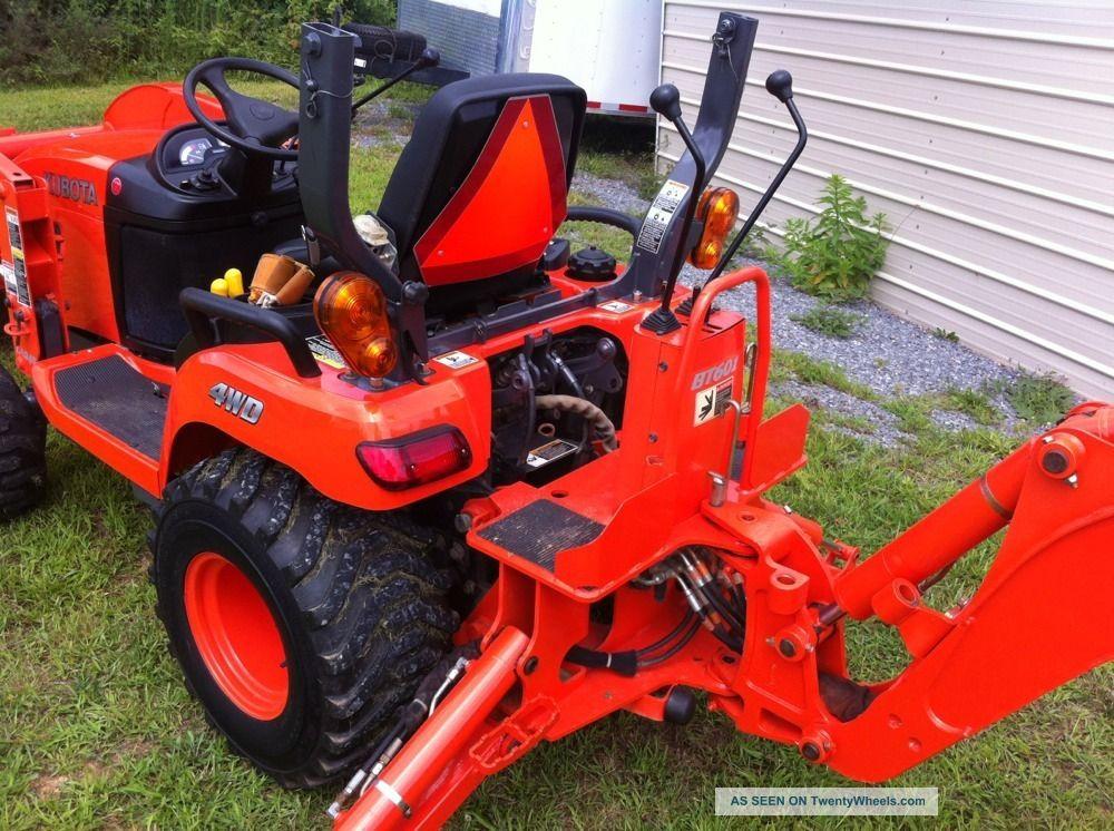 Tractor Loader Backhoe : Kubota bx backhoe loader tractor hrs very