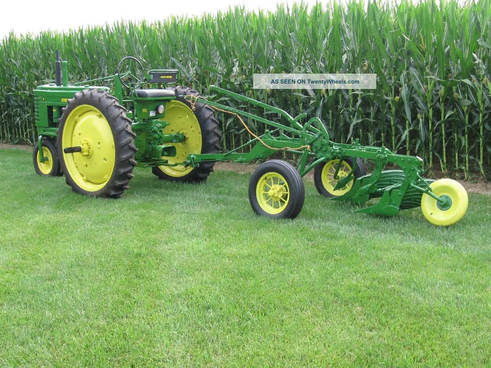 John Deere B Tractor And Model 44 Plow Tractors photo 1 ...