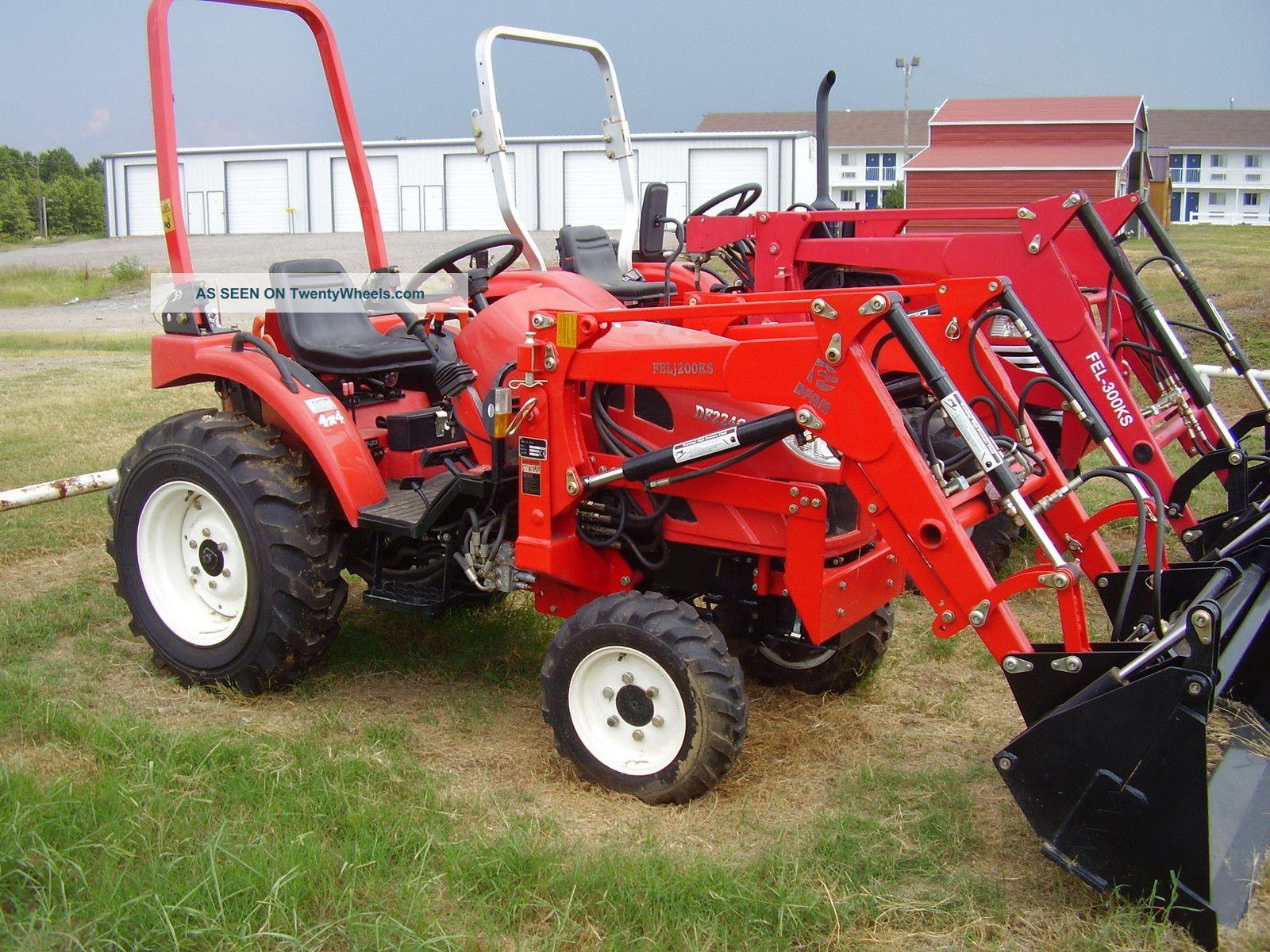22hp 4wd Diesel Garden Tractor With Loader 4n1 Bucket