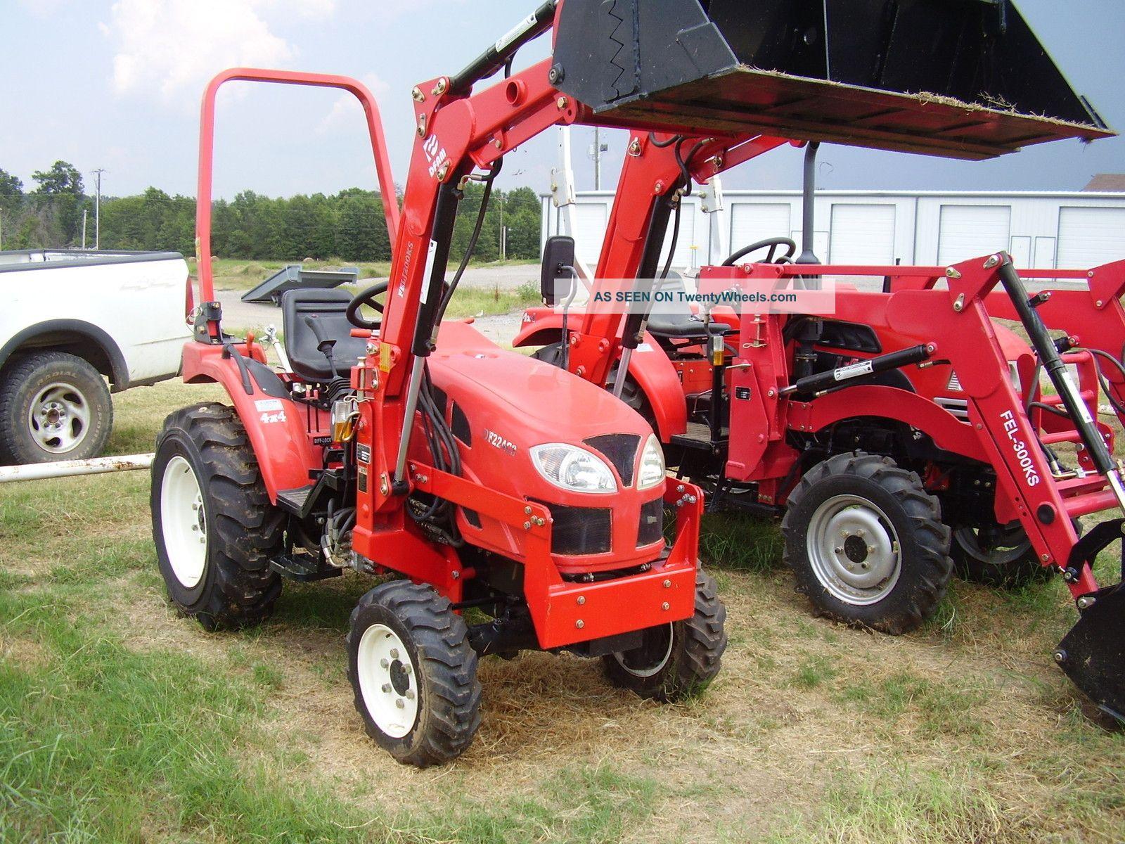 Garden Tractor Bucket : Hp wd diesel garden tractor with loader n bucket