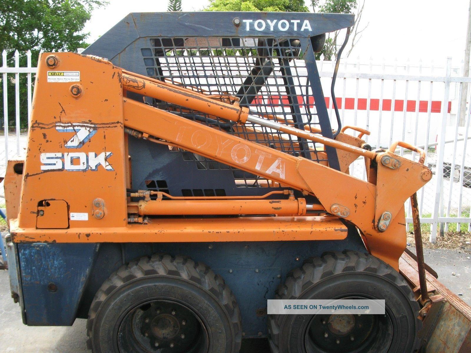 toyota skid steer sdk8 manual