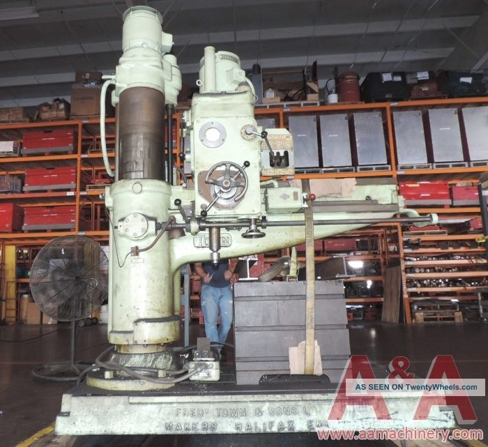 Town Ae4 Radial Arm Drill 11 X 36 22736 Drilling & Tapping Machines photo