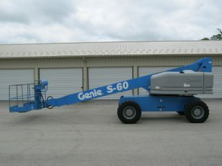 Genie S - 60 Aerial Manlift Boom Lift Boomlift Diesel Man Telescopic Basket Jlg photo