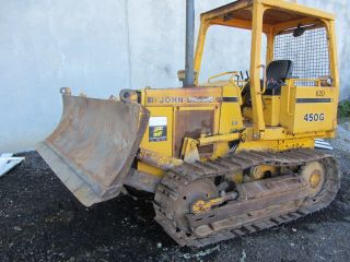 1996 John Deere 450g Bulldozer,  6 Way 8 ' Blade,  6785 Hrs Crawler photo