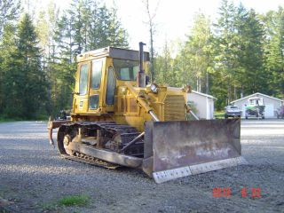 1980 Caterpillar D6d Bulldozer Cab And Ripper 4 Way Blade photo