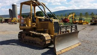 1989 Cat Caterpillar D3c Track Bulldozer Crawler Dozer Tractor Diesel Machine. photo
