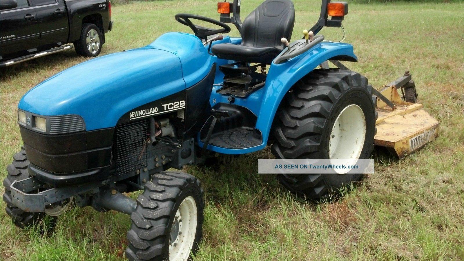 2001 holland tc29 diesel tractor w bush hog. Black Bedroom Furniture Sets. Home Design Ideas
