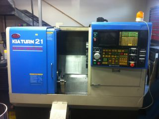 Cnc Lathe Kiatunr 21 1998 And Fast Machine Yasnac Lx3 photo