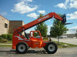 2007 Skytrak Jlg 6042 Telescopic Forklift Telehandler Reach Fork Cummins Turbo photo