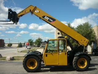 2008 Caterpillar Cat Tl943 Reach Forklift Jlg Telehandler Full Cab Telescopic photo