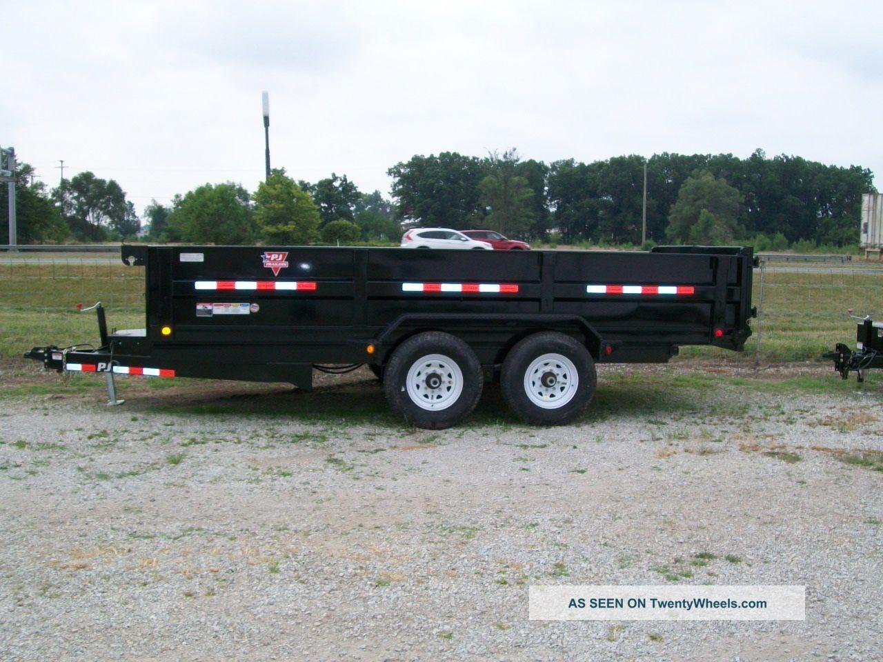 Scissor Lift Trailer : Dump trailer scissor lift heavy duty quot